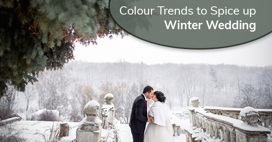 latest winter wedding colour trends