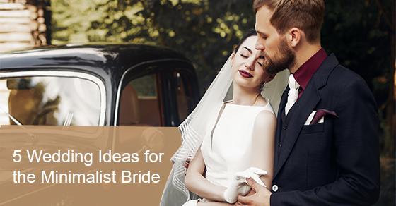Wedding ideas for a minimalist bride