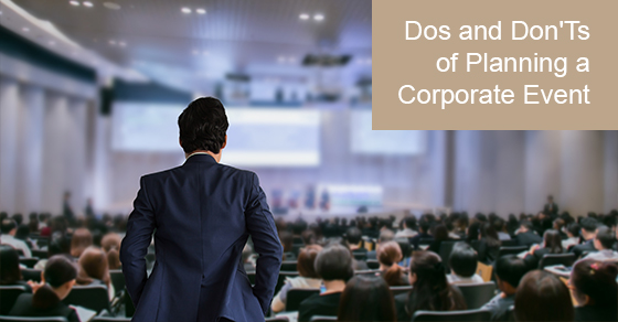 Corporate event planning tips